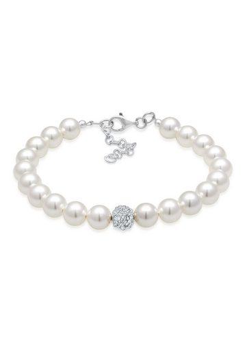 Elli Perlenarmband »Synthetische Perlen 925 Silber«