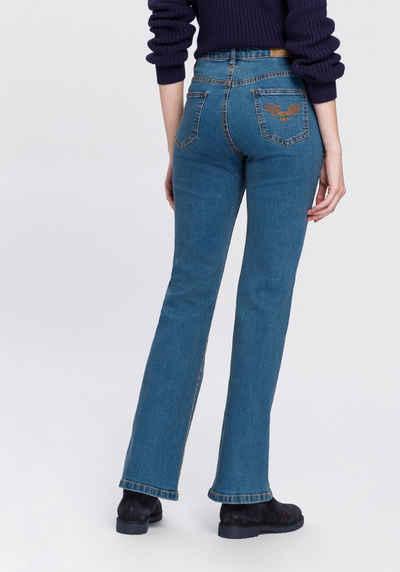 Arizona Bootcut-Jeans »Comfort-Fit« High Waist