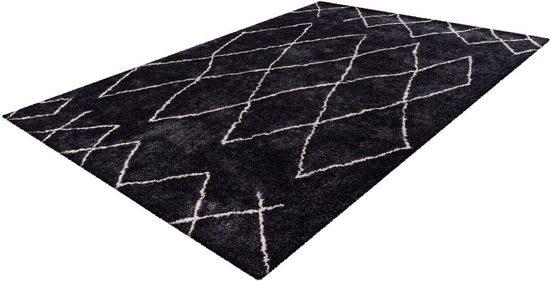 Hochflor-Teppich »Elvar-4000«, calo-deluxe, rechteckig, Höhe 27 mm, besonders weich durch Microfaser, Wohnzimmer