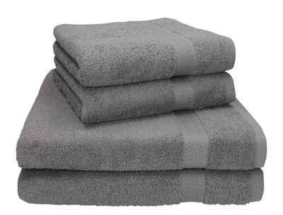 Betz Handtuch Set »4-tlg. Handtuch Set Premium 100% Baumwolle 2 Duschtücher Duschtuch Größe 70 x 140 cm 2 Handtücher Handtuch Größe 50 x 100 cm« (4-tlg)
