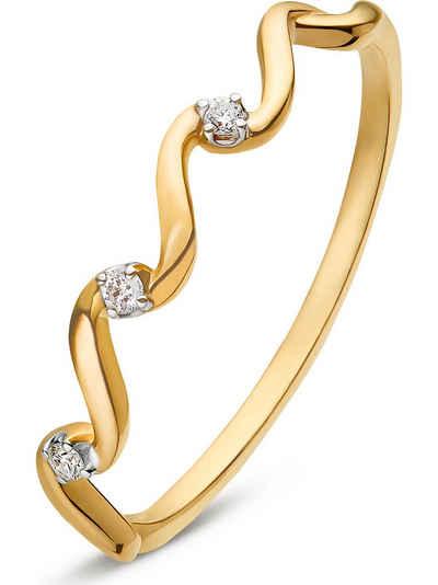 CHRIST Fingerring »CHRIST Damen-Damenring 3 Diamant«