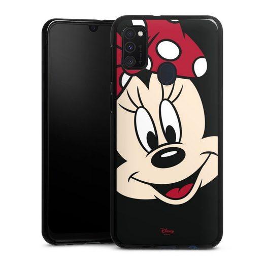 DeinDesign Handyhülle »Minnie All Over« Samsung Galaxy M30s, Hülle Minnie Mouse Disney Offizielles Lizenzprodukt
