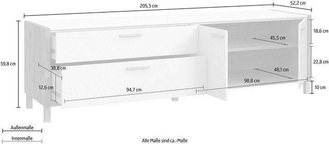 TV Möbel - FORTE TV Board, Breite ca. 205 cm  - Onlineshop OTTO