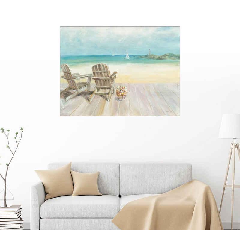 Posterlounge Wandbild, Morgen am Meer