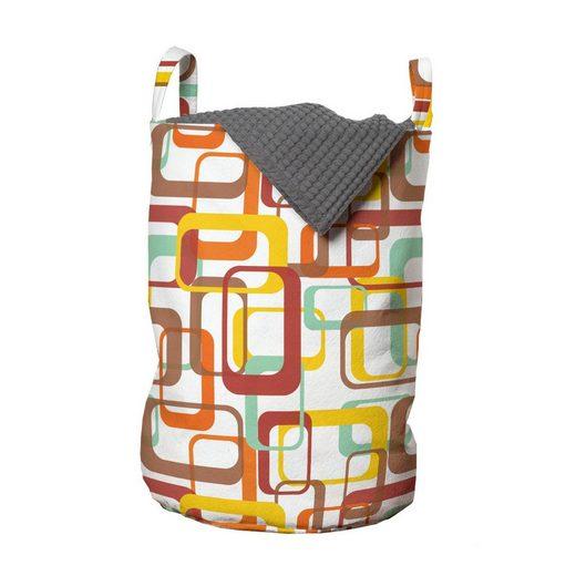 Abakuhaus Wäschesack »Wäschekorb mit Griffen Kordelzugverschluss für Waschsalons«, Geometrisch Bunte Runde Rectangles