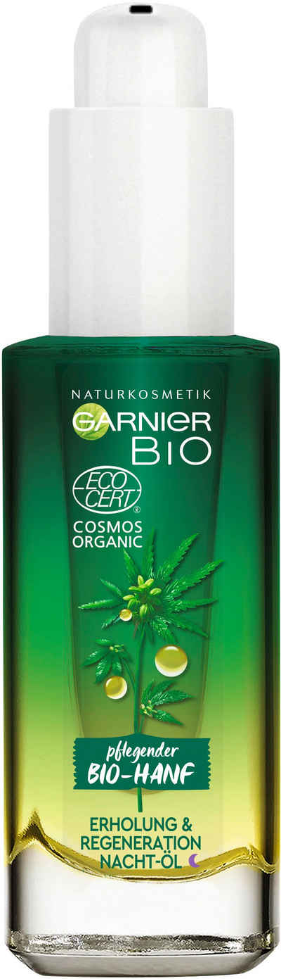 GARNIER Gesichtsöl »Bio-Hanf Erholung & Regeneration Nacht-Öl«, Naturkosmetik