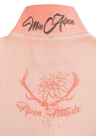 Hangowear Trachtenshirt im Used-Look und Knopfleiste