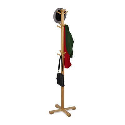 relaxdays Garderobenständer »Bambus Garderobenständer mit 12 Haken«