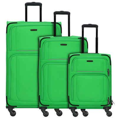 travelite Trolleyset »Garda 2.0«, 4 Rollen, (3-teilig, 3 tlg), Polyester