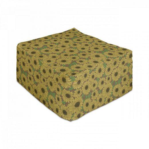 Abakuhaus Pouf »Unter Tisch Fußhocker für Wohnzimmer Büro Ottomane mit Abdeckung«, Blumen Sunflowers Natur Schönheit