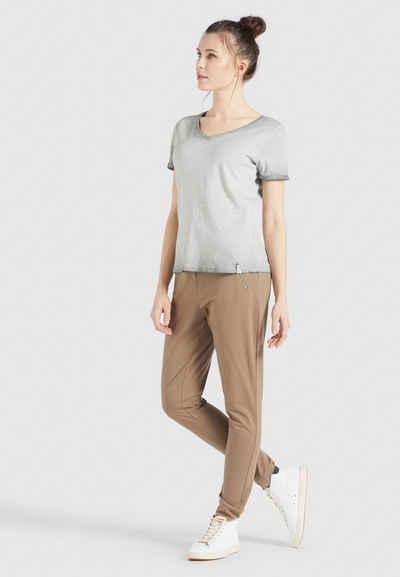 khujo T-Shirt »BARU« mit V-Ausschnitt