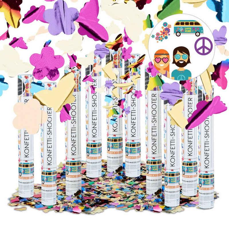 relaxdays Konfetti »10 x Party Popper bunt Schmetterlinge«