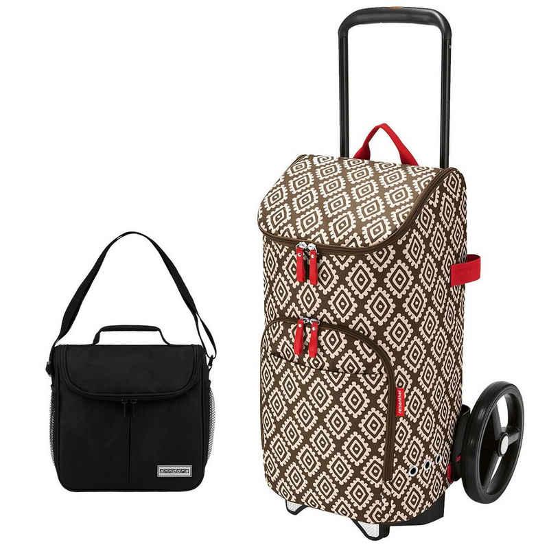 REISENTHEL® Einkaufstrolley »reisenthel citycruiser rack + citycruiser bag 45 l Einkaufstrolley + mini Kühltasche«