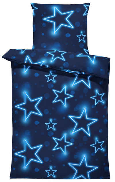 Bettwäsche »Sterne«, One Home, leuchtoptik, 2 Teilig