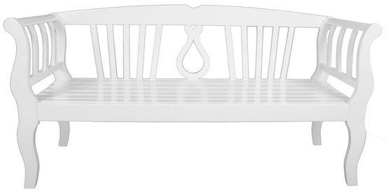 Gartenbank »Arcadia«, Eukalyptus, 174x57x90 cm, weiß