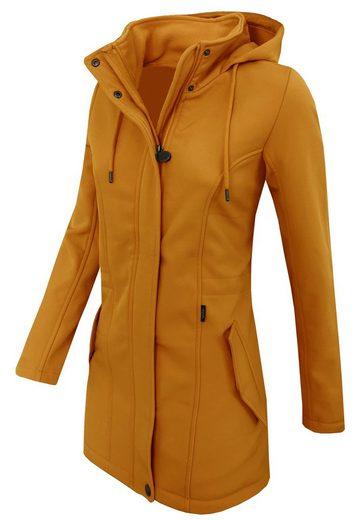 Eight2Nine Softshelljacke »OM147« Damen Softshell Mantel mit Kapuze