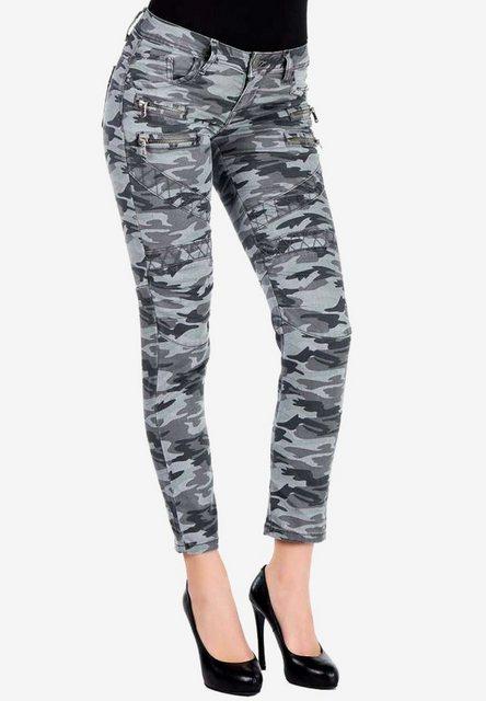 Hosen - Cipo Baxx Slim fit Jeans mit trendigem Military Muster ›  - Onlineshop OTTO