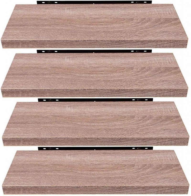 EUGAD Wandregal »0115QJ-4«, 4-tlg., Wandregal Wandboard 4er-Set Hängeregal Holz Board Modern