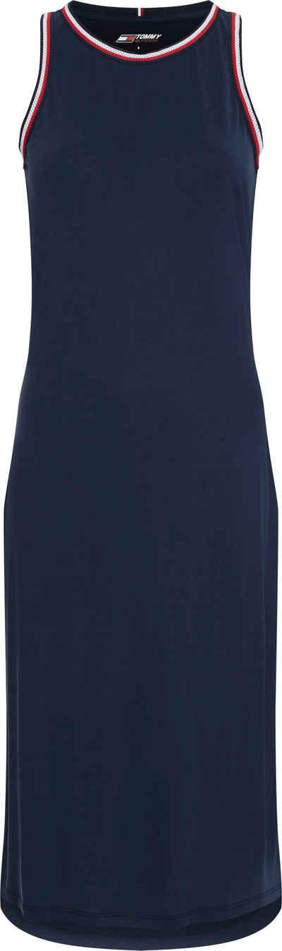 Tommy Hilfiger Sport Jerseykleid »STRIPE TAPE MODAL DRESS MIDI« mit kontrastfarben Details in den typischen Tommy Farben