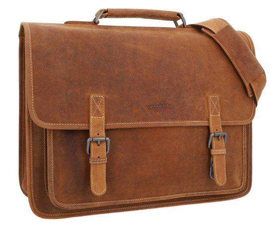 Gusti Leder Aktentasche »Elmar« (1-tlg), Unitasche Umhängetasche Arbeitstasche Unitasche Messenger Bag Businesstasche Laptoptasche Damen Herren