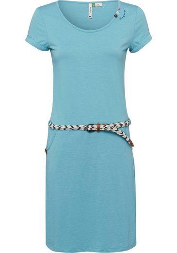 Ragwear Shirtkleid »MONTANA ORGANIC« (2-tlg., mit abnehmbarem Gürtel) mit liebevollem Zierknopf-Besatz