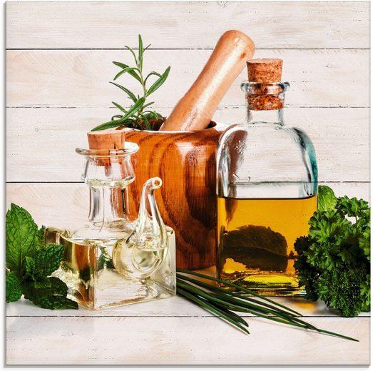 Artland Glasbild »Olivenöl und Kräuter - Küche«, Arrangements (1 Stück)