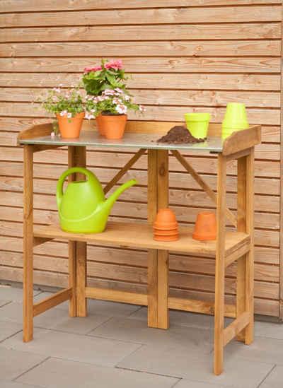 Kiehn-Holz Pflanztisch, BxTxH: 98x48x97 cm