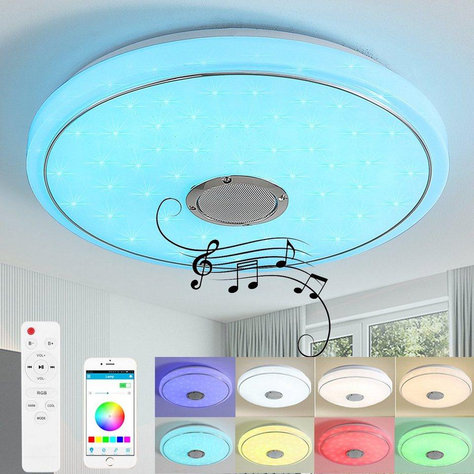 style home LED Deckenleuchte, 20W RGB Deckenlampe mit Bluetooth  Lautsprecher, Farbwechsel dimmbar mit Fernbedienung & APP, 202020 cm  online kaufen ...