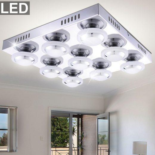 WOFI Deckenstrahler, LED 40,5 Watt Decken Leuchte Metall Beleuchtung A+ Leuchte Wofi 9589.09.01.0000