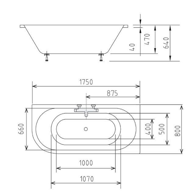 Badewannen und Whirlpools - HAK Badewanne »VIVA«, 175x80x47 cm, rechts  - Onlineshop OTTO