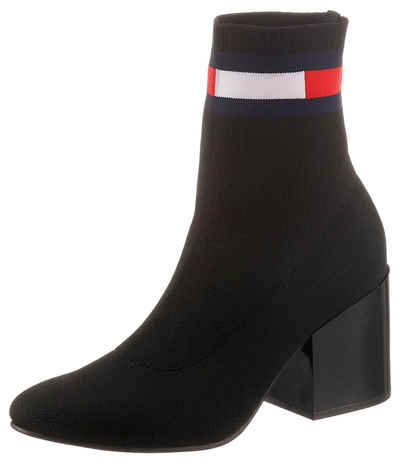 Tommy Jeans »FLAG SOCK MID HEEL BOOT« Stiefelette mit Stretchfunktion