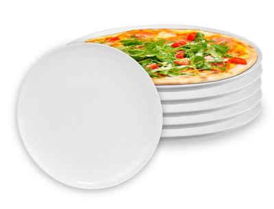Luminarc Pizzateller »6x Arcoroc Teller 32 cm Durchmesser aus Opalglas für Pizza, Flammkuchen, Wraps«