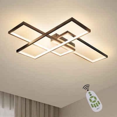 ZMH LED Deckenleuchte »LED Deckenleuchte Dimmbar Modern Deckenlampe Wohnzimmerlampe 65W Geometrisch Wandlampe Multifunktional Deckenbeleuchtung für Wohnzimmer, Schlafzimmer, Büro, Flur und Balkon, 65x47x7.5CM«