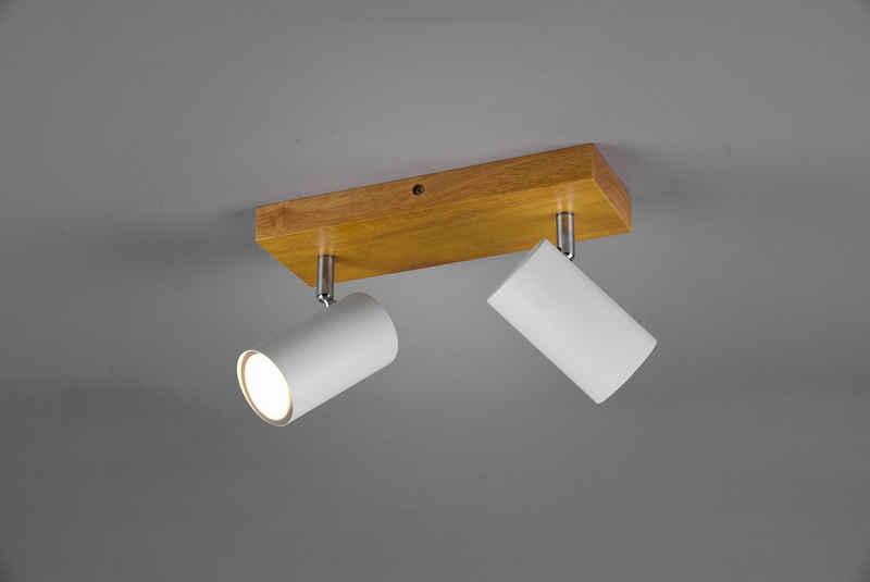 TRIO Leuchten Deckenstrahler »Marley, Deckenspot«, mit Holz Baldachin, Strahler dreh- und schwenkbar, GU10 Leuchtmittel frei wählbar
