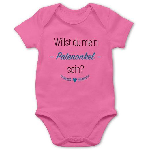 Shirtracer Shirtbody »Willst du mein Patenonkel sein? Herz - Strampler Motive - Baby Body Kurzarm - Strampler & Bodies« body patenonkel