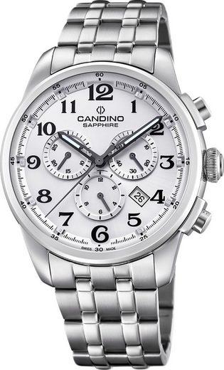 Candino Quarzuhr »UC4698/1 Candino Herren Uhr Analog C4698/1«, (Analoguhr), Herren Armbanduhr rund, Edelstahlarmband silber, Sport