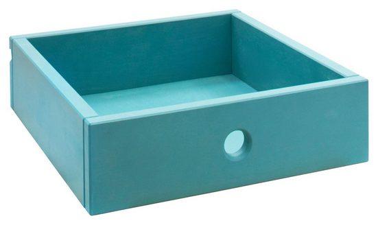 BioKinder - Das gesunde Kinderzimmer Spielzeugtruhe »Laura«, Office Schubladen-Set 3 Stück, Kiefer blau