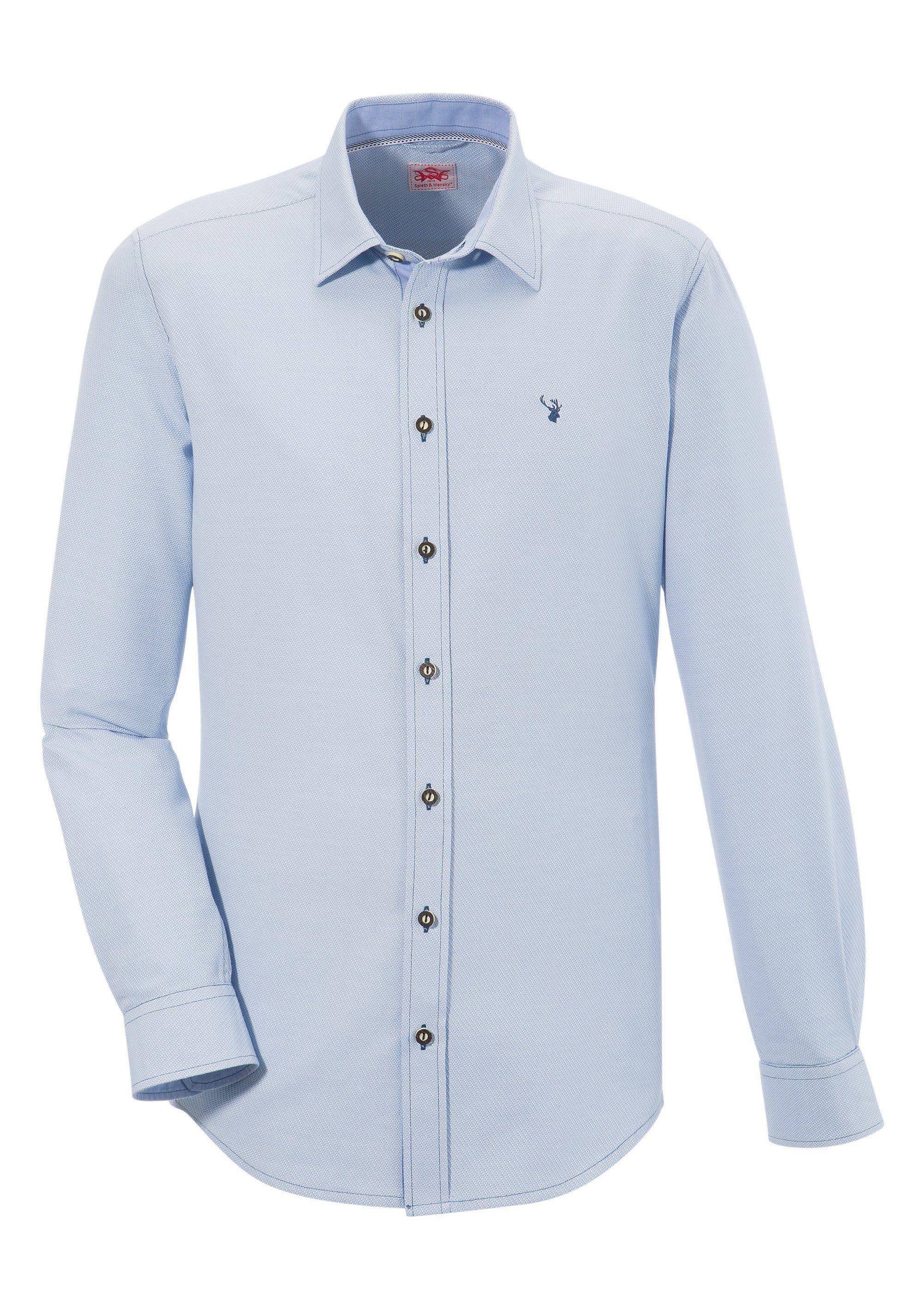 Herren Spieth & Wensky Trachtenhemd mit feinem Strukturmuster  | 04059829850514