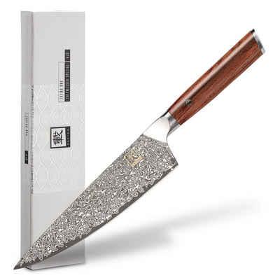 "ZAYIKO Damastmesser »Damastmesser ""Chefmesser Special Edition"" - 20,3cm Klinge - Griff: Rose - VG-10 Stahlkern«"