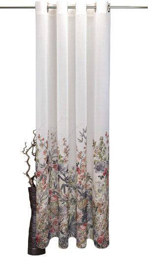 Vorhang »Rosebud«, VHG, Ösen (1 Stück), Deko Fixmaß,Verlauf,Digitaldruck