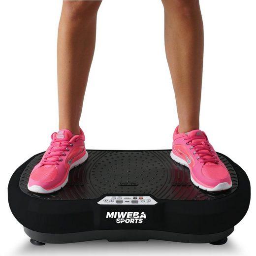 Miweba Sports Vibrationsplatte »MV100«, 250 W, 99 Intensitätsstufen, 3 Jahre Garantie, inklusive Fernbedienung & Trainingsbändern