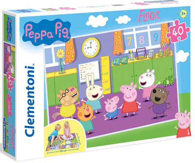 Clementoni® Puzzle »Bodenpuzzle - Peppa Pig«, 40 Puzzleteile, Made in Europe