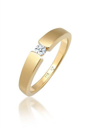 Diamore Diamantring »Verlobungsring Diamant (0.11 ct) 585 Gelbgold«