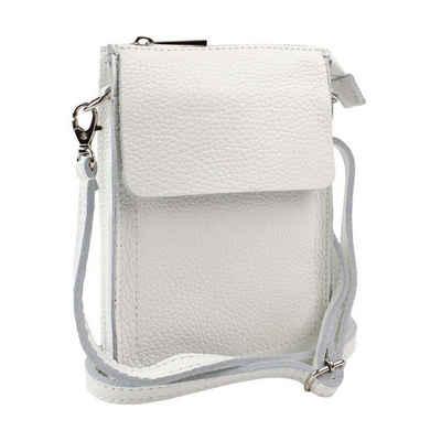 ITALYSHOP24 Schultertasche »Damen Leder Handytasche Tasche CrossBody«, als Schultertasche, CrossOver, Umhängetasche tragbar