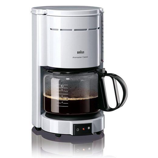 Braun Filterkaffeemaschine Domestic Home KF 47/1 Kaffeemaschine weißAromaster