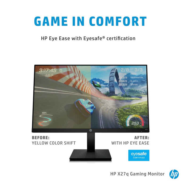 "HP X27q Gaming-LED-Monitor (68,6 cm/27 "", 2560 x 1440 Pixel, QHD, 1 ms Reaktionszeit, 165 Hz, IPS-LED)"