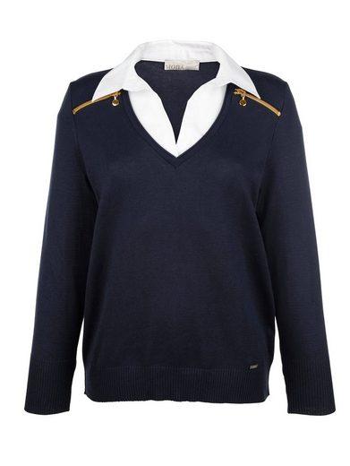 Mona 2 in 1 Pullover mit Bluseneinsatz