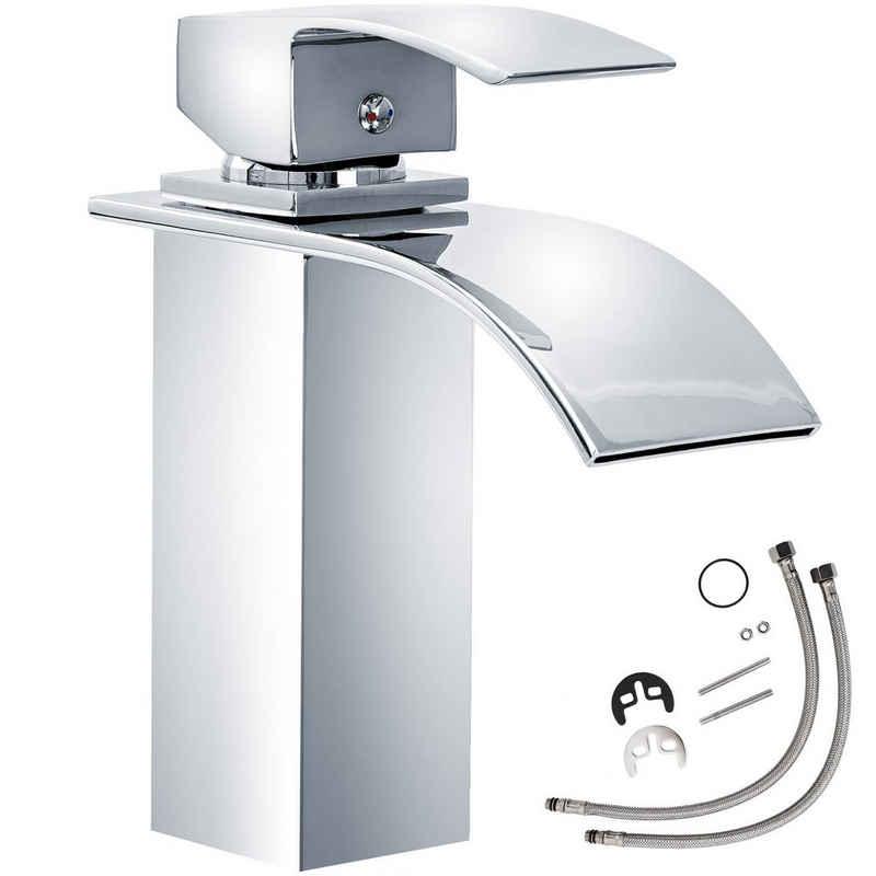 tectake Kopfbrause »Wasserhahn Wasserfall gebogener Auslauf«