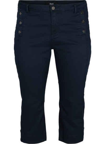 Zizzi 3/4-Jeans Große Größen Damen Slim Fit Denim 3/4-Hose