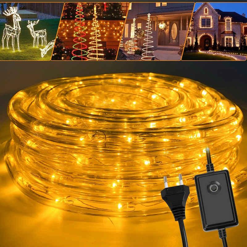 Einfeben Lichterschlauch »10-50M lichtschlauch mit LEDs Beleuchtung Gelb Party Garten Außen Deko Weihnachtsdeko«, Wasserdicht